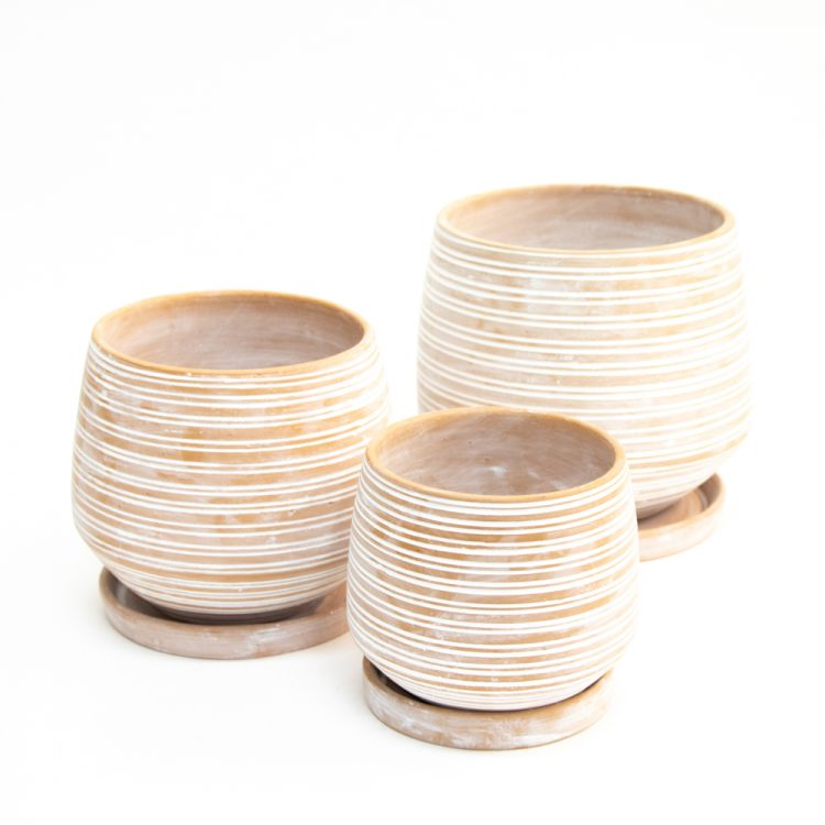 Striped planters (set of three) | TradeAid