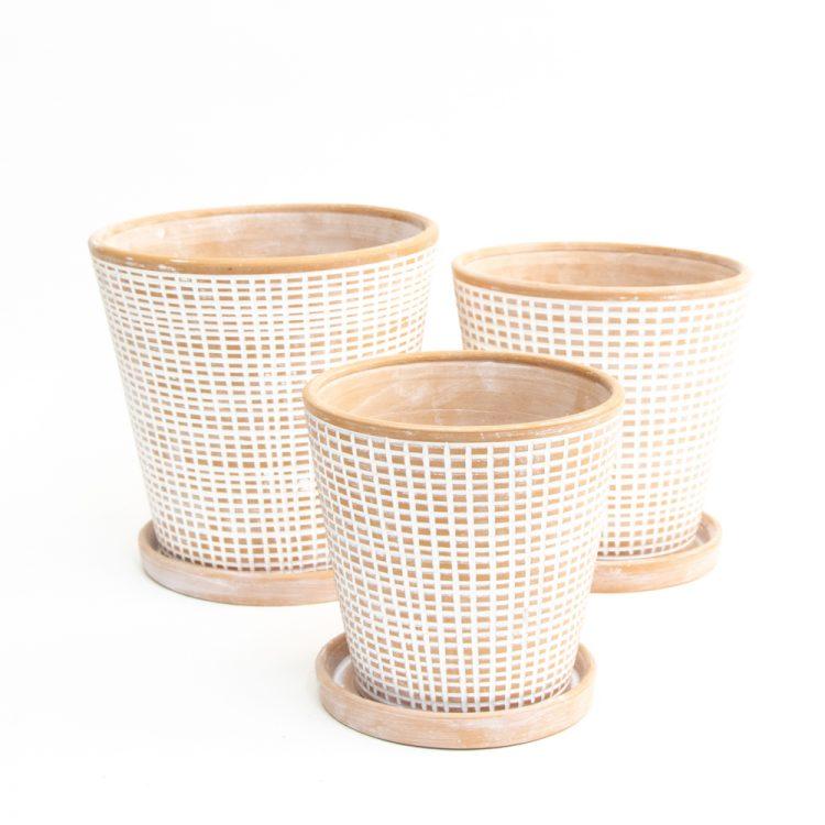 Checkered planters (set of three) | TradeAid