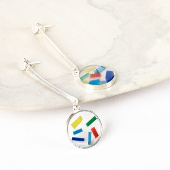 Resin disc drop earrings | TradeAid