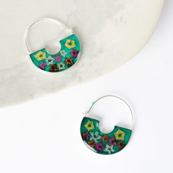 Floral hoop earrings | TradeAid