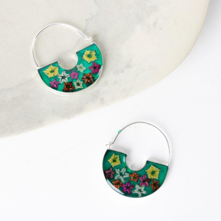 Floral hoop earrings | TradeAid