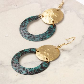 Metal patina earring   Gallery 1   TradeAid