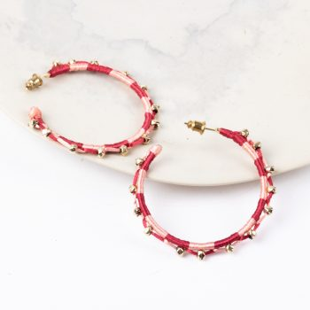 Red thread and bead hoops | TradeAid