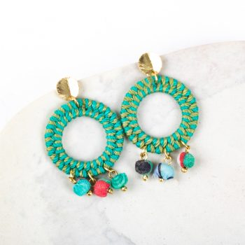 Jute thread earrings | TradeAid