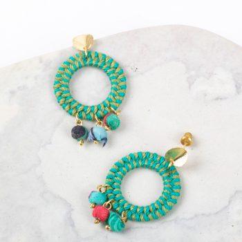 Jute thread earrings   Gallery 1   TradeAid