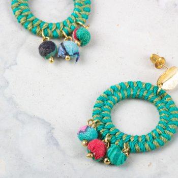 Jute thread earrings   Gallery 2   TradeAid