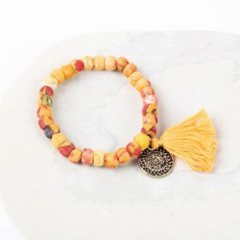 Fabric bead bracelet | TradeAid