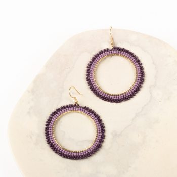 Violet bead earrings | TradeAid