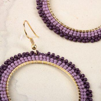 Violet bead earrings   Gallery 2   TradeAid