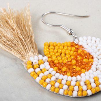 Zardozi bird earring   Gallery 2   TradeAid