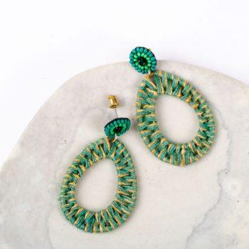 Green jute earring | TradeAid