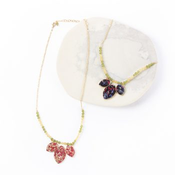 Fabric leaves necklace | TradeAid
