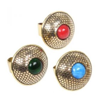 Brass ring with glass bead | TradeAid