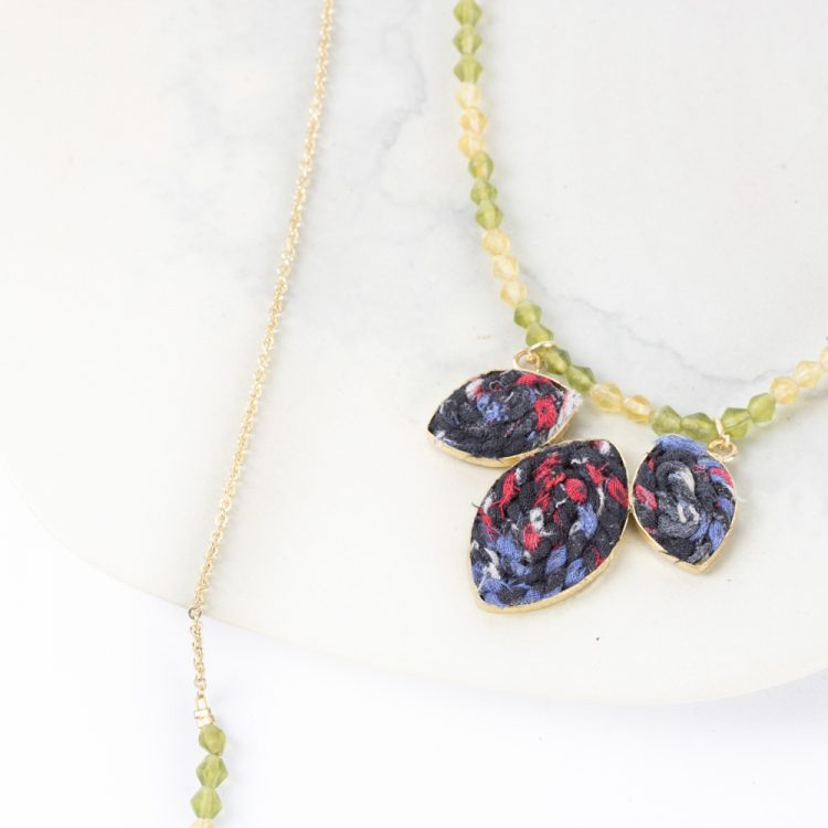 Fabric leaves necklace | Gallery 2 | TradeAid