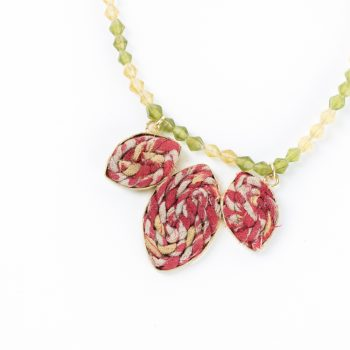 Fabric leaves necklace | Gallery 1 | TradeAid