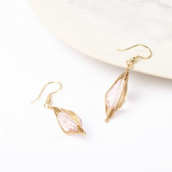 Pink glass bead earrings | TradeAid