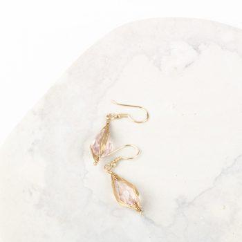 Pink glass bead earrings | Gallery 1 | TradeAid