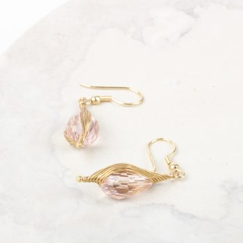 Pink glass bead earrings | Gallery 2 | TradeAid