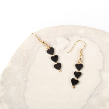 Black heart earrings | TradeAid