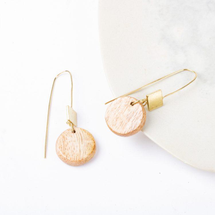 Wooden bead earrings   TradeAid