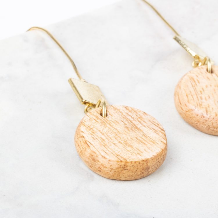 Wooden bead earrings   Gallery 2   TradeAid