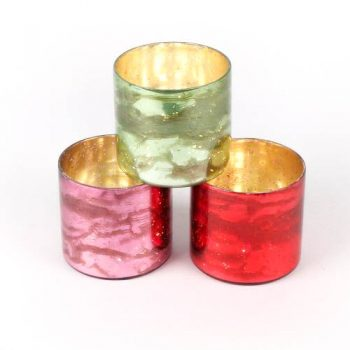 Coloured glass tealight holder | TradeAid