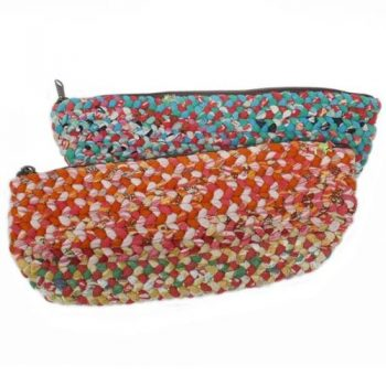 Recycled cotton woven pencil case | TradeAid