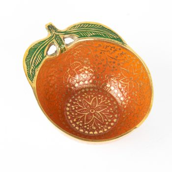 Orange meena work bowl | TradeAid