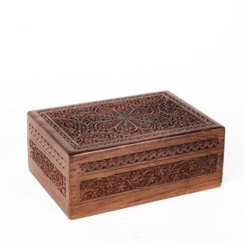 Floral sheesham wood box | TradeAid