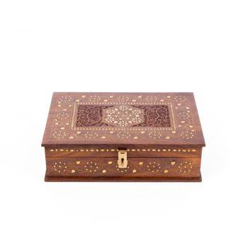 Sheesham brass inlay box | TradeAid