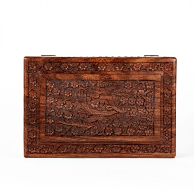 Parrot and floral sheesham wood box | Gallery 1 | TradeAid