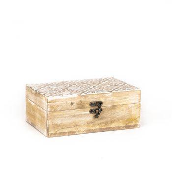 Carved mango wood jewellery box | TradeAid