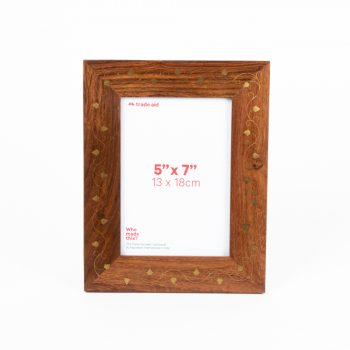 Sheesham and brass photo frame | TradeAid