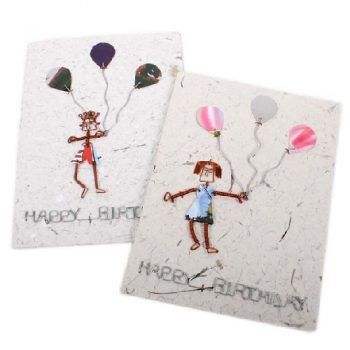 Happy birthday card with balloons | TradeAid