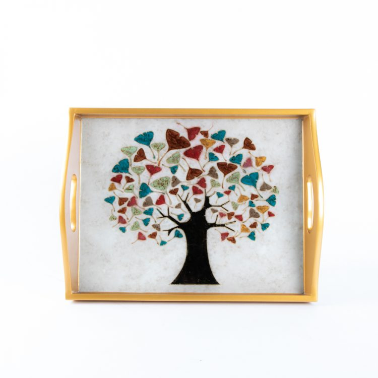 Tree of life glass tray | TradeAid
