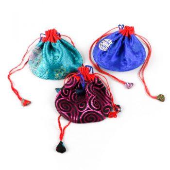 Large brocade drawstring bag | TradeAid