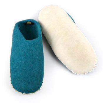 Teal felt slipper (45) | Gallery 1 | TradeAid