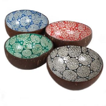 Crackle design coconut bowl | TradeAid