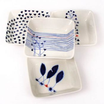 Blue and white square bowl | TradeAid