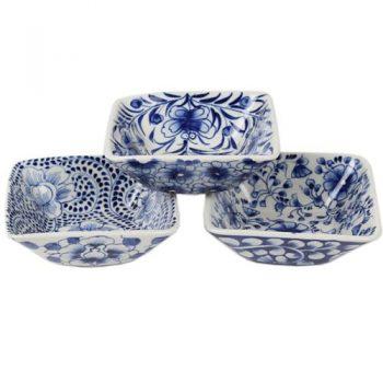 Deep square floral bowl | TradeAid