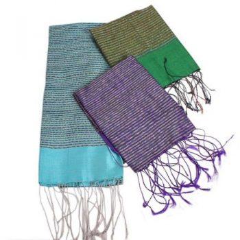 Handwoven silk scarf | TradeAid
