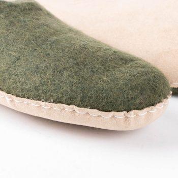Khaki felt slipper (36) | Gallery 2 | TradeAid