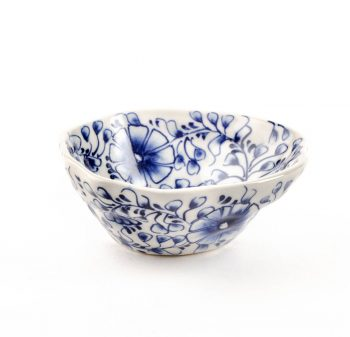 White bowl with blue flowers | TradeAid
