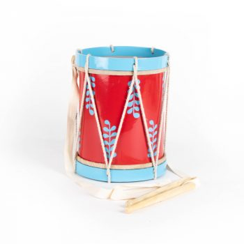 Red and blue drum with strap | TradeAid