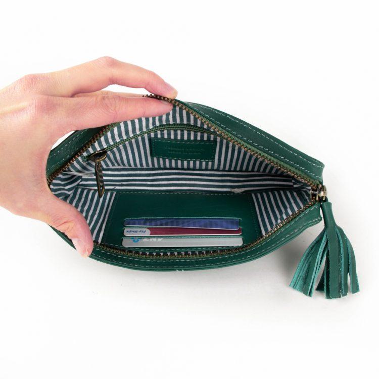 Green purse with tassel | Gallery 2 | TradeAid