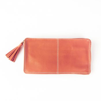 Rose coral purse with tassel | TradeAid