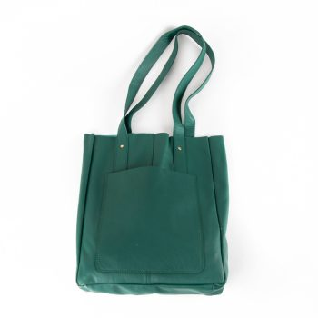 Sea green leather tote | TradeAid