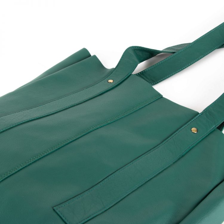 Sea green leather tote | Gallery 2 | TradeAid