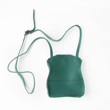 Sea green leather microbag | TradeAid