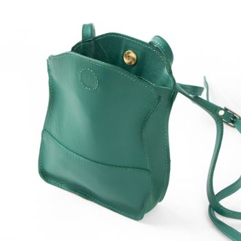 Sea green leather microbag | Gallery 1 | TradeAid